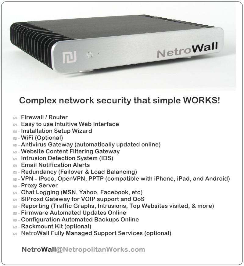 NetroWall - Complex Network Security that simply WORKS!