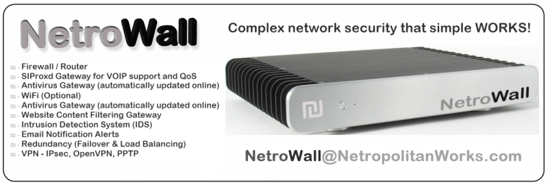 VOIP Thailand - NetroWall - Firewall / Router / VOIP SIP Proxy